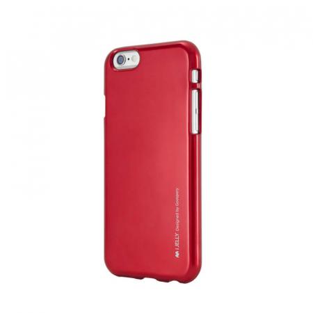 Husa Apple iPhone 11 Rosu Jelly Metal0