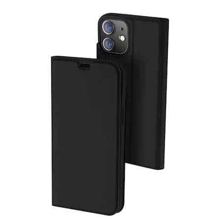 Husa Flip Apple iPhone 12 Tip Carte Negru Skin DuxDucis [0]