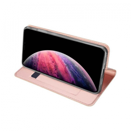 Husa Flip Apple iPhone 12 Tip Carte Roz Skin DuxDucis [3]