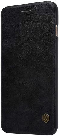 Husa Flip iPhone 12 Negru Tip Carte Magnetica Nillkin Qin [2]
