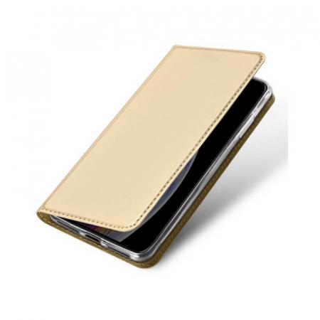 Husa Flip Apple iPhone 12Pro Tip Carte Auriu Skin DuxDucis [3]