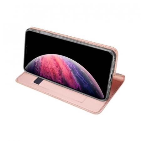 Husa Flip Apple iPhone 12Pro Max Tip Carte Roz Skin DuxDucis [2]