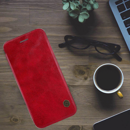 Husa Flip iPhone 12 Pro Max Rosu Tip Carte Magnetica Nillkin Qin [3]