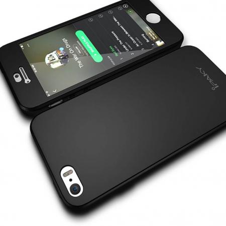 Husa Apple iPhone 5/5S Full Cover 360 Grade Neagra Ipaky2