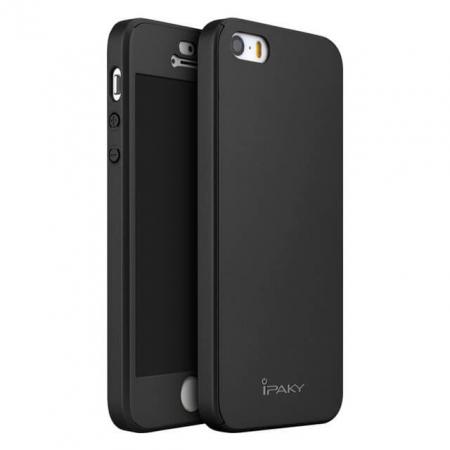 Husa Apple iPhone 5/5S Full Cover 360 Grade Neagra Ipaky0