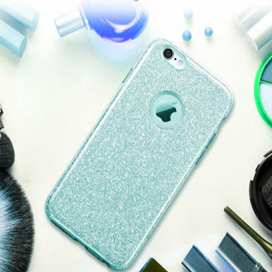 Husa Apple iPhone 7 Plus / iPhone 8 Plus Sclipici Carcasa Spate Albastru Silicon TPU1