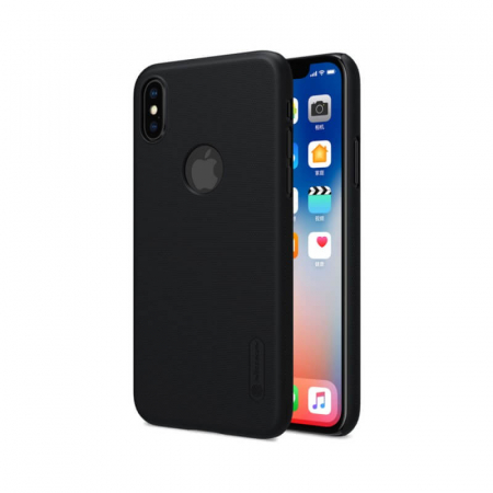 Husa Silicon iPhone X Negru Nillkin Frosted1