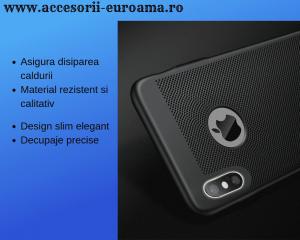 Husa Apple iPhone X / XS Carcasa Spate Perforata Negru4
