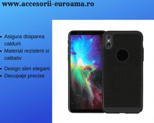 Husa Apple iPhone X / XS Carcasa Spate Perforata Negru1