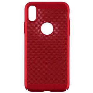 Husa Apple iPhone X / XS Carcasa Spate Perforata Rosu1