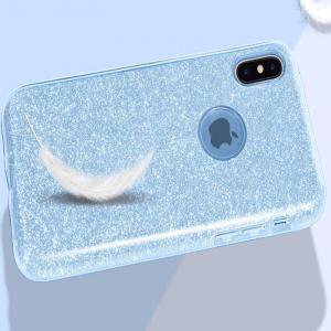 Husa Apple iPhone XR Sclipici Albastru Silicon2