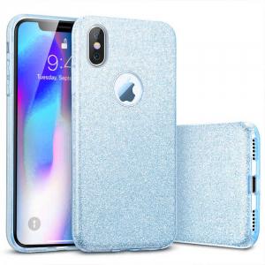 Husa Apple iPhone XR Sclipici Albastru Silicon0