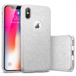 Husa Apple iPhone XR Sclipici Argintiu Silicon0