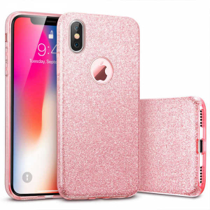 Husa Apple iPhone XR Sclipici Roz Silicon0