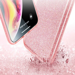 Husa Apple iPhone XR Sclipici Roz Silicon3