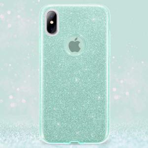 Husa Apple iPhone XR Sclipici Carcasa Spate Verde Silicon TPU1