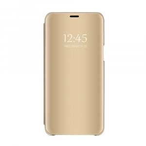 Husa Huawei P20 Clear View Flip Standing Cover (Oglinda) Auriu (Gold)0