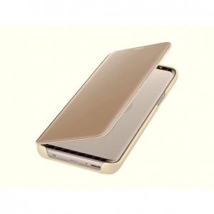 Husa Huawei P20 Lite Clear View Flip Standing Cover (Oglinda) Auriu (Gold)2