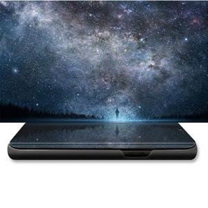Husa Huawei P20 Lite Clear View Flip Standing Cover (Oglinda) Negru (Black)3