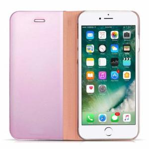 Husa iPhone 7 Plus / 8 Plus Clear View Flip Standing Cover (Oglinda) Roz (Rose Gold)4