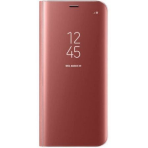 Husa Samsung Galaxy A5 2017 Clear View Flip Standing Cover (Oglinda) Roz (Rose Gold)0