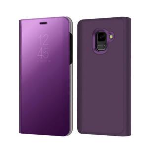 Husa Samsung Galaxy A5 / A8 2018 Clear View Flip Standing Cover (Oglinda) Mov (Purple)0