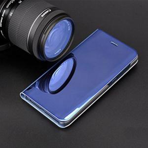 Husa Samsung Galaxy A5 / A8 2018 Clear View Flip Standing Cover (Oglinda) Albastru (Blue)2