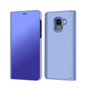 Husa Samsung Galaxy A5 / A8 2018 Clear View Flip Standing Cover (Oglinda) Albastru (Blue)0