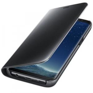 Husa Samsung Galaxy J5 2017 Clear View Flip Standing Cover (Oglinda) Negru (Black)
