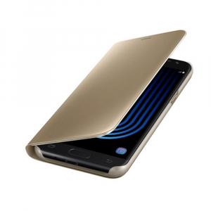 Husa Samsung Galaxy J5 2017 Clear View Flip Standing Cover (Oglinda) Auriu (Gold)2