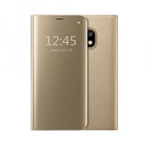 Husa Samsung Galaxy J5 2017 Clear View Flip Standing Cover (Oglinda) Auriu (Gold)0