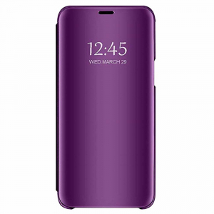 Husa Samsung Galaxy J6 2018 Clear View Flip Standing Cover (Oglinda) Mov (Purple)0