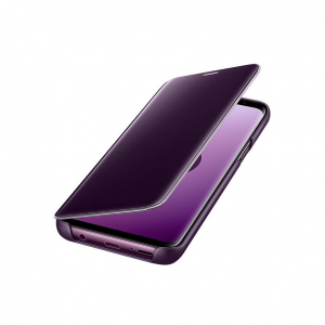 Husa Samsung Galaxy J6 2018 Clear View Flip Standing Cover (Oglinda) Mov (Purple)1