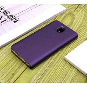Husa Samsung Galaxy J7 2017 Clear View Flip Standing Cover (Oglinda) Mov (Purple)2