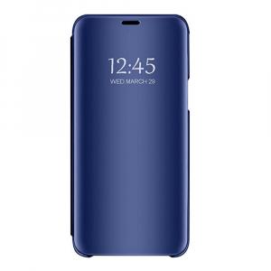 Husa Samsung Galaxy J6 Plus (+) 2018 Clear View Flip Standing Cover (Oglinda) Albastru (Blue)3