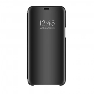 Husa Huawei Y5 2018 Clear View Flip Standing Cover (Oglinda) Negru (Black)0