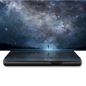 Husa Huawei Y5 2018 Clear View Flip Standing Cover (Oglinda) Negru (Black)3