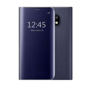 Husa Samsung Galaxy J7 2017 Clear View Flip Standing Cover (Oglinda) Albastru (Blue)