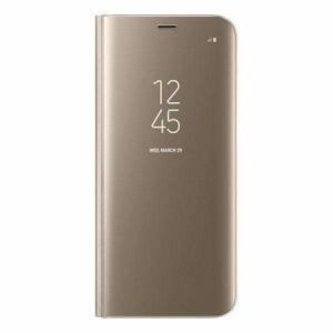 Husa Samsung Galaxy S8 Plus Clear View Flip Standing Cover (Oglinda) Auriu (Gold)0
