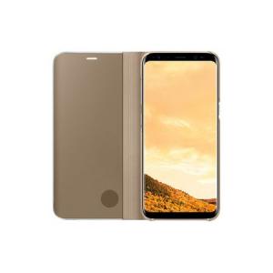 Husa Samsung Galaxy S8 Plus Clear View Flip Standing Cover (Oglinda) Auriu (Gold)1