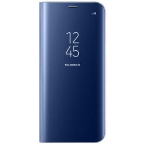 Husa Samsung Galaxy S8 Clear View Flip Standing Cover (Oglinda) Albastru (Blue)