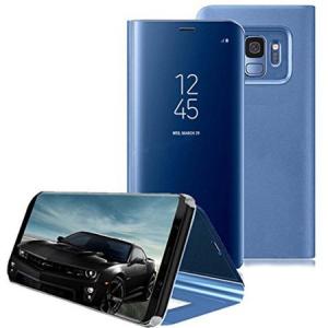 Husa Samsung Galaxy S9 Plus Clear View Flip Standing Cover (Oglinda) Albastru (Blue)3