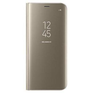 Husa Samsung Galaxy S9 Clear View Flip Standing Cover (Oglinda) Auriu (Gold)0