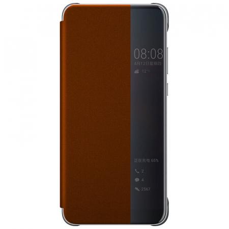 Husa Flip Samsung A21S Portocaliu Tip Carte Art0