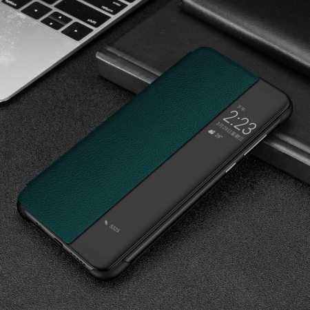 Husa Flip Samsung A42 5G Verde Tip Carte Art1