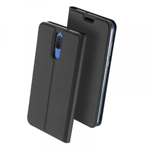 Husa Flip Huawei Mate 10 Lite 2017 Tip Carte Negru Skin DuxDucis0