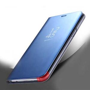 Husa Huawei Mate 10 Lite Clear View Flip Toc Carte Standing Cover Oglinda Albastru3