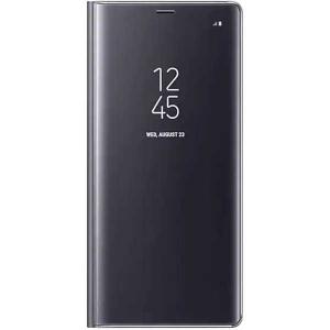 Husa Huawei Mate 10 Lite Clear View Flip Toc Carte Standing Cover Oglinda Negru0