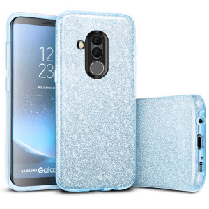 Husa Huawei Mate 20 Lite 2018 Sclipici Albastru Silicon0