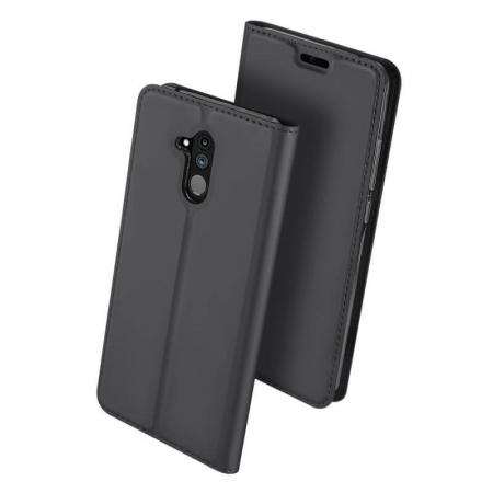 Husa Huawei Mate 20 Lite 2018 Toc Flip Tip Carte Portofel Negru Piele Eco Premium DuxDucis [0]